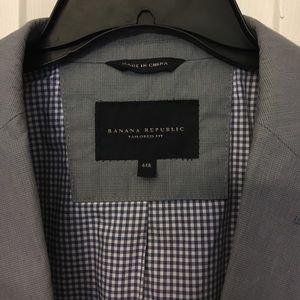 Banana Republic tailored-fit cotton suit jacket